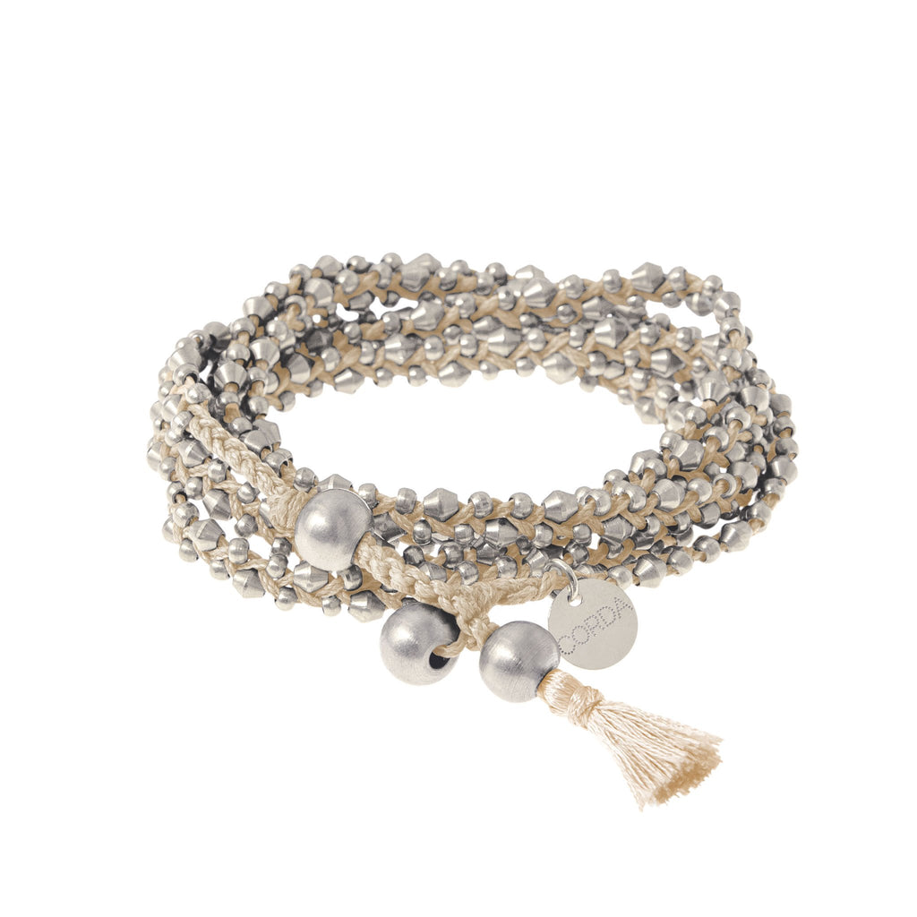 Stellina 3-in-one Wrap Bracelet/Necklace • Bisque