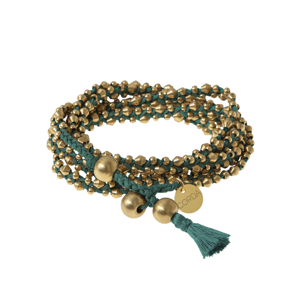 Stellina 3-in-one Wrap Bracelet/Necklace • Teal