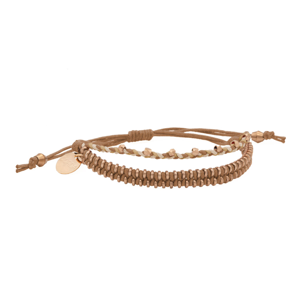 Juno Luxe Friendship Bracelet • Sienna • Rose Gold