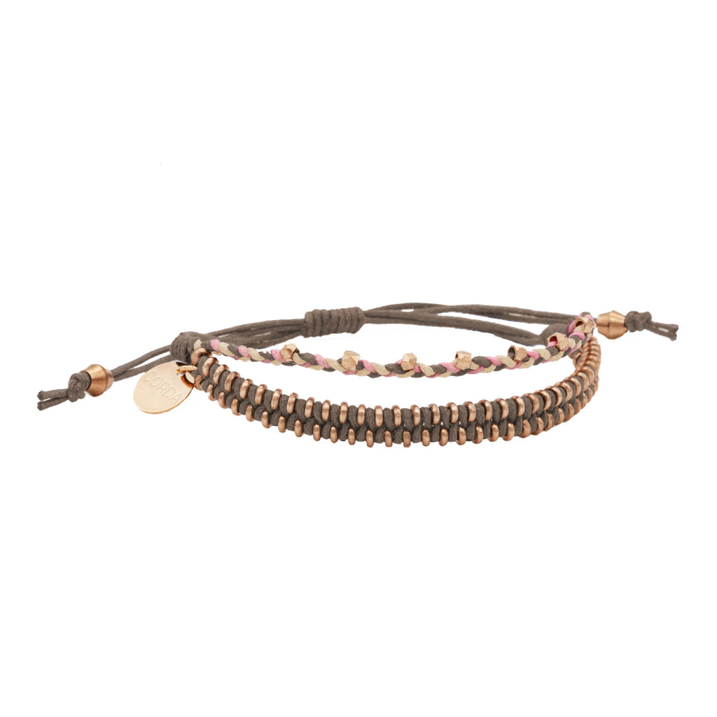 Juno Luxe Friendship Bracelet • Stone • Rose Gold