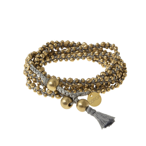 Stellina 3-in-one Wrap Bracelet/Necklace • Taupe