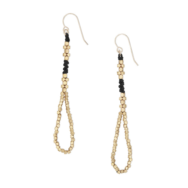 Thalia Nugget Earrings • Black