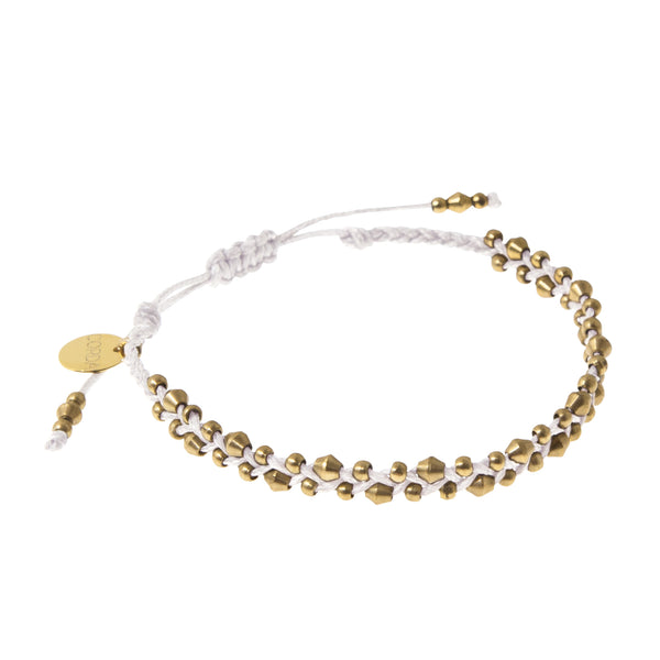 Stellina Luxe Friendship Bracelet • White