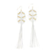 Rhiannon Tassel Earrings • White
