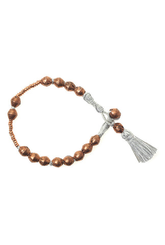 Ethiope Bracelet • Frost • Copper Beads
