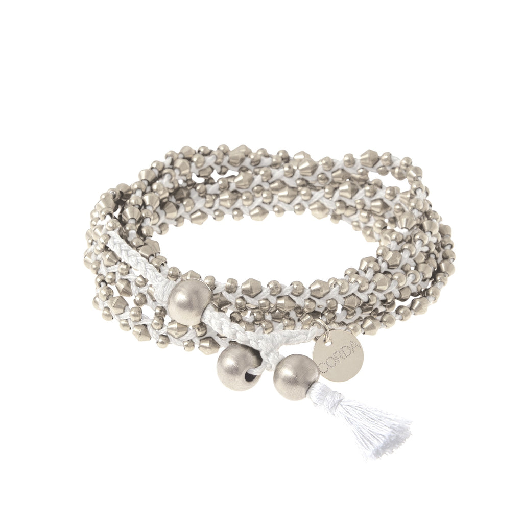 Stellina 3-in-one Wrap Bracelet/Necklace • White