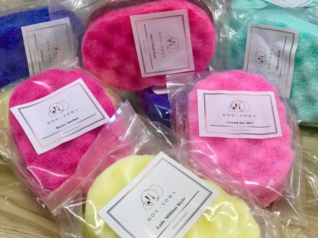 Exfoiliating Soap Sponge Baby Powder