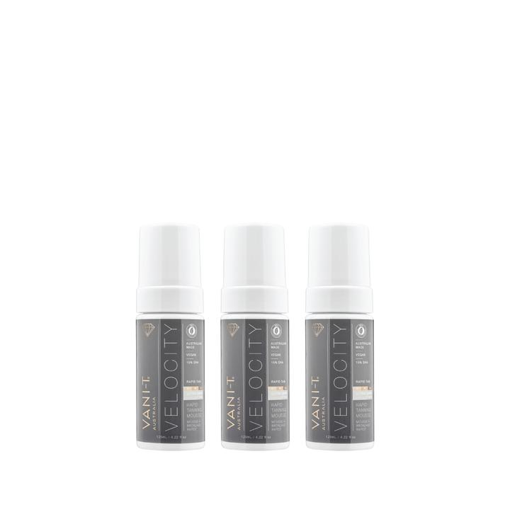 Trio Bundel - Velocity Self Tan Mousse (BESPAAR € 18)