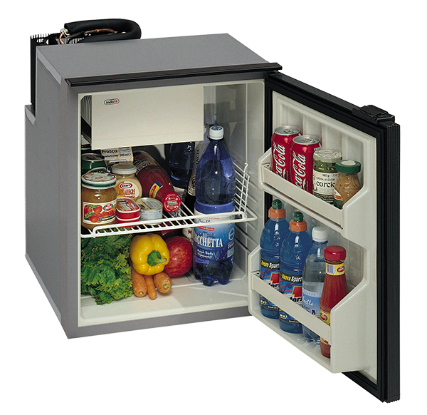 TruckFridge TF130ACDC Black Refrigerator 4.2 cubic ft 12vDC//110vAC for Commercial Vehicles