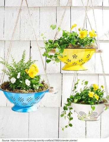 upycled hanging basket ideas
