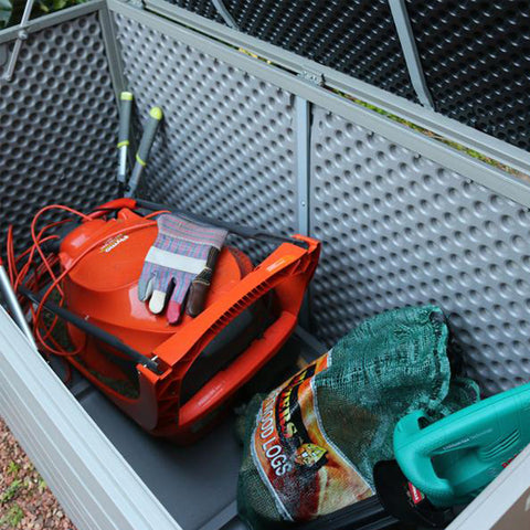 garden items in storage