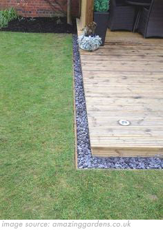 decking edging with lights