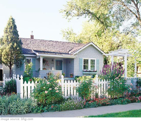 classic American white picket fence boundary