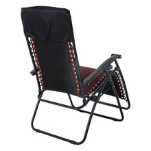 Load image into Gallery viewer, Back view of the Azuma padded garden relaxer chair in dark red.