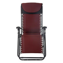 Load image into Gallery viewer, Front view of the Azuma padded garden relaxer chair in dark red.