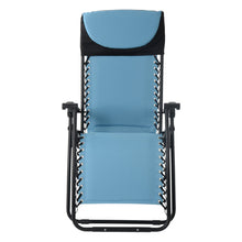 Load image into Gallery viewer, Front view of the Azuma textilene garden relaxer chair in turquoise.