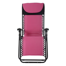 Load image into Gallery viewer, Front view of the Azuma padded garden relaxer chair in pink.