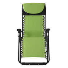 Load image into Gallery viewer, Front view of the Azuma padded garden relaxer chair in lime.