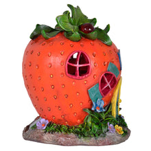 Load image into Gallery viewer, Azuma novelty strawberry cafe solar light side view.