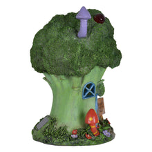 Load image into Gallery viewer, Azuma novelty broccoli hotel solar light side view.