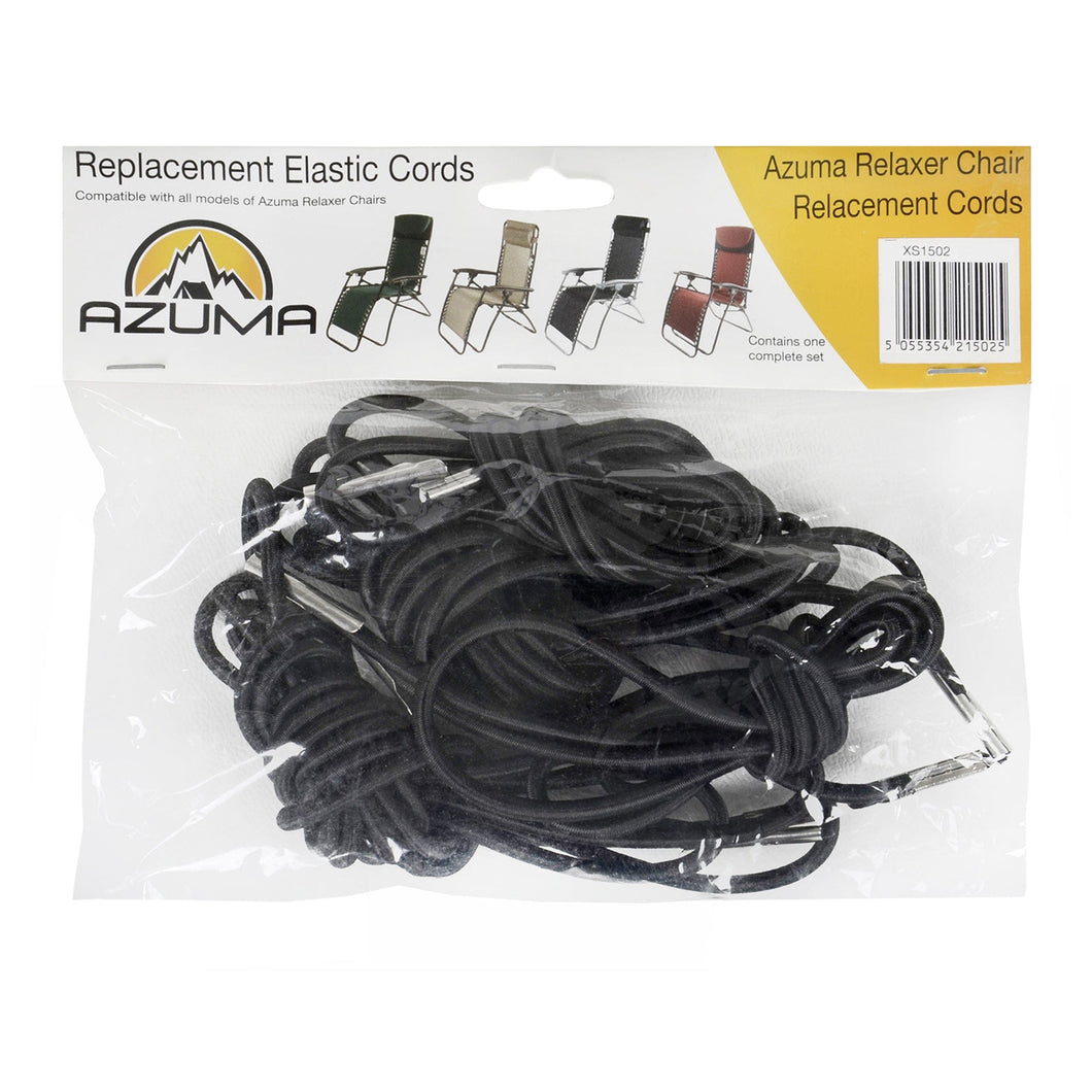 Azuma replacement black elastic cords for zero gravity chairs.