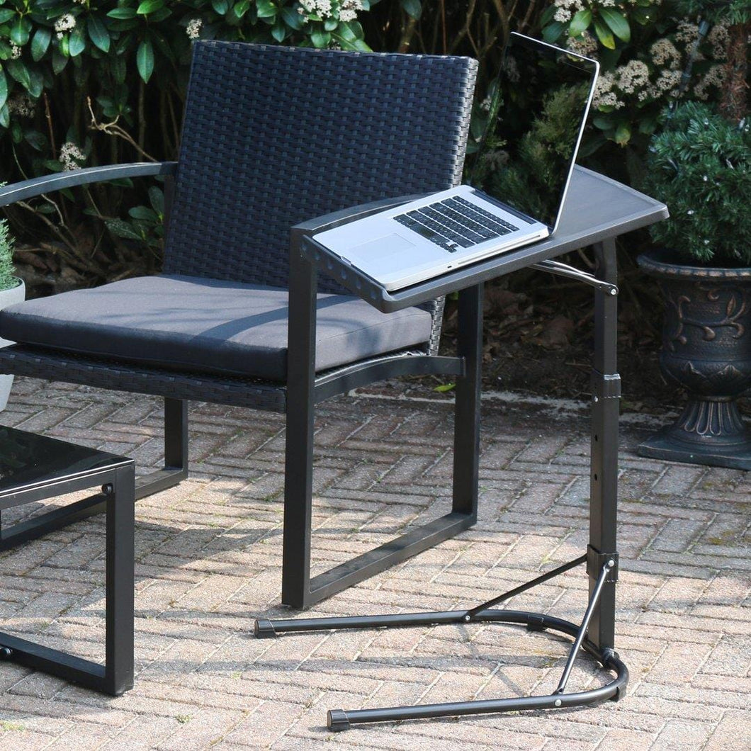 Azuma Laptop Table Folding Black Stand Adjustable Height