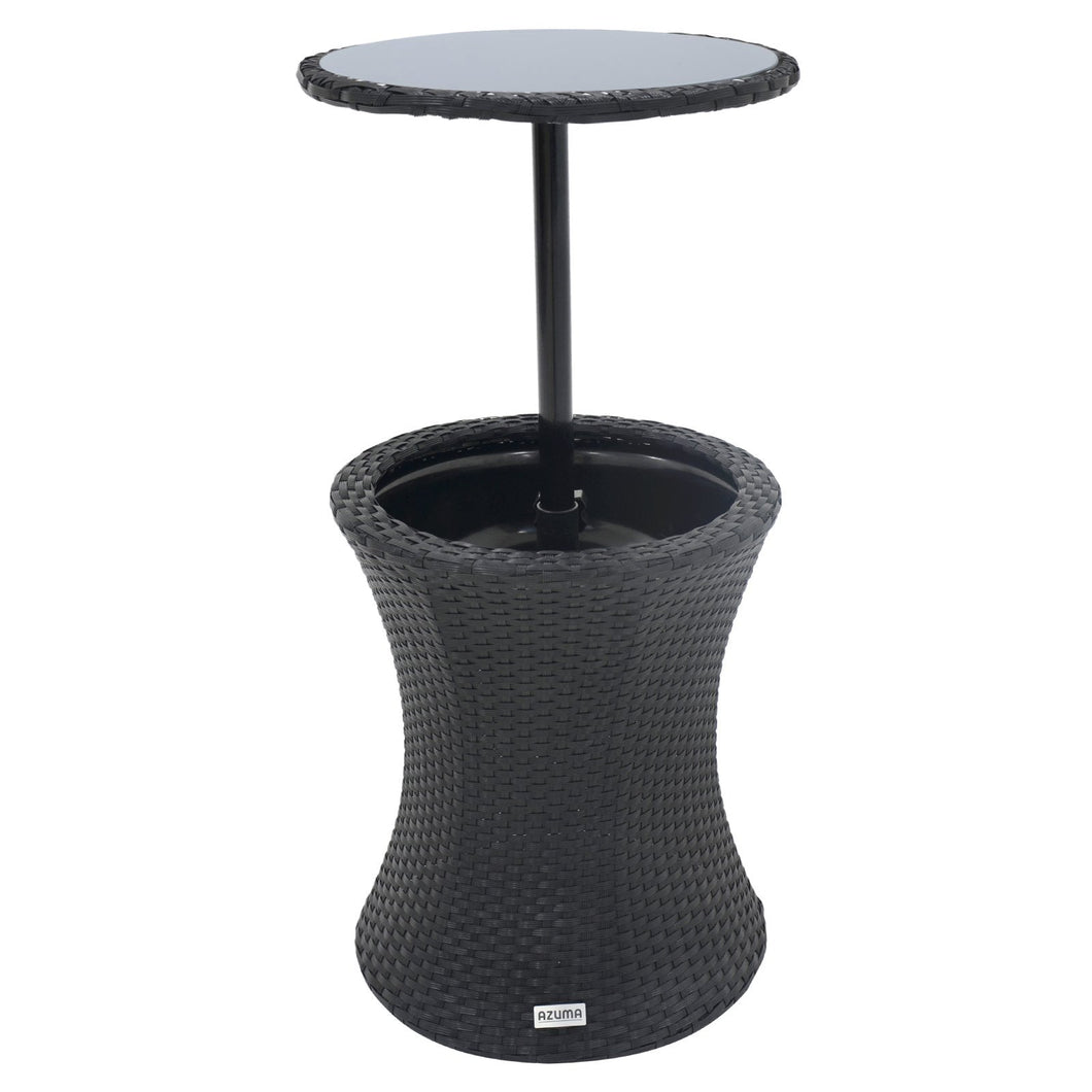 Azuma Ibiza Rattan Effect Drinks Cooler Table With Glass Top