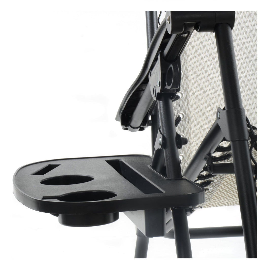 Azuma outdoor clip on side table for relaxer chairs.
