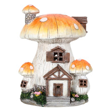 Load image into Gallery viewer, Toadstool house solar light.