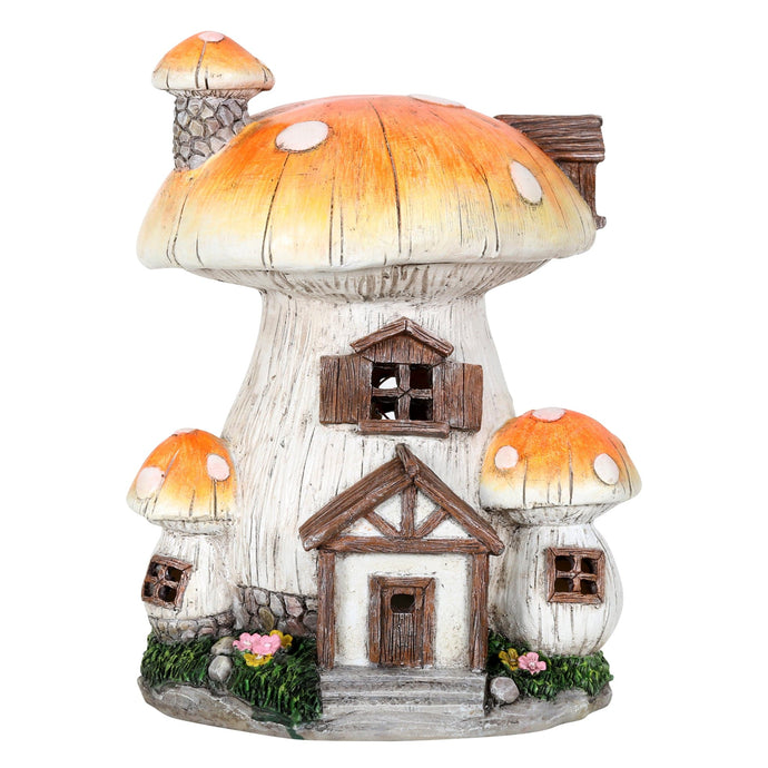 Toadstool house solar light.