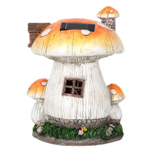 Load image into Gallery viewer, Back of the Toadstool house solar light.