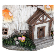 Load image into Gallery viewer, Front door on the Toadstool house solar light.