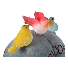 Load image into Gallery viewer, Novelty frog solar garden ornament birds.