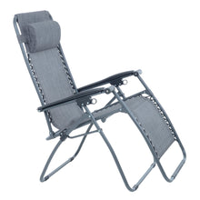 Load image into Gallery viewer, Azuma textilene garden relaxer chair in dark grey marl.