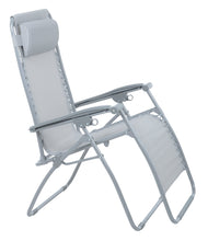 Load image into Gallery viewer, Azuma textilene garden relaxer chair in silver grey.