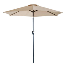 Load image into Gallery viewer, Azuma 2.5m Round Tilting Garden Parasol With Crank Handle
