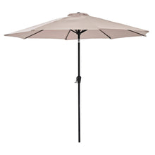 Load image into Gallery viewer, Azuma 3m round tilting parasol in taupe.