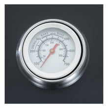 Load image into Gallery viewer, Azuma Rhino steel charcoal BBQ temperature gauge.