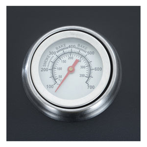 Azuma Rhino steel charcoal BBQ temperature gauge.