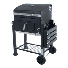 Load image into Gallery viewer, Azuma Rhino steel charcoal BBQ shelf down.