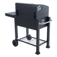Load image into Gallery viewer, Back of the Azuma Rhino steel charcoal BBQ.