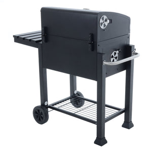 Back of the Azuma Rhino steel charcoal BBQ.