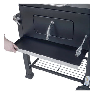 Azuma Rhino steel charcoal BBQ with ashtray.
