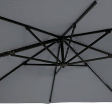 Load image into Gallery viewer, Azuma Roma XL overhanging garden parasol in grey umbrella ribs.