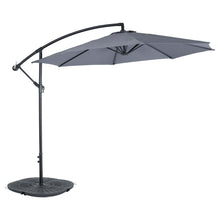Load image into Gallery viewer, Azuma 3m Banana overhanging parasol in grey.