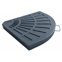 Load image into Gallery viewer, Azuma 14kg quarter round parasol slab with handle.