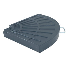 Load image into Gallery viewer, Azuma 20kg quarter round parasol base slab with handle.
