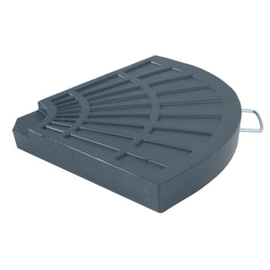 Azuma 20kg quarter round parasol base slab with handle.