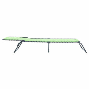 Azuma lime padded fold away sun lounger full recline.