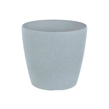 Load image into Gallery viewer, Azuma grey stone effect round plant pot.